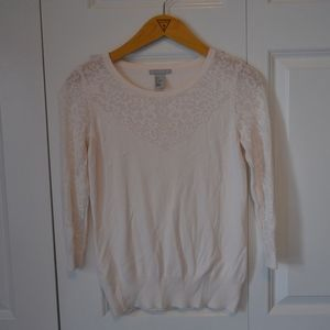 H&M White 3/4 sleeve career blouse